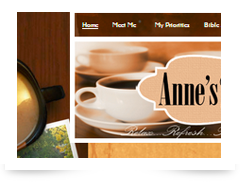screenshot of anneelliott.com
