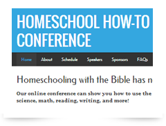 screenshot of homeschoolhowtoconference.com