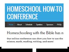 screenshot of homeschoolhowtoconference.com