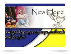 screenshot of newhopeministryandcounselingcenter.org