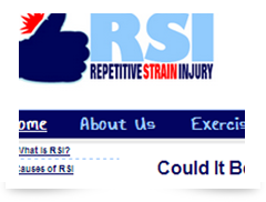screenshot of rsirepetitivestraininjury.com