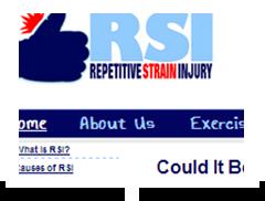 screenshot of rsirepetitivestraininjury.com