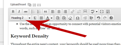 Your keywords should be contained in the post headers.