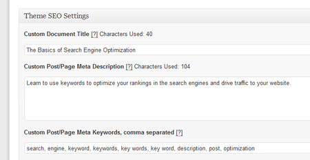 Be sure to do the SEO settings in WordPress.