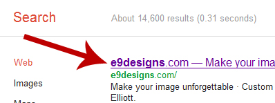 The page title is the first thing seen in the search engine results.