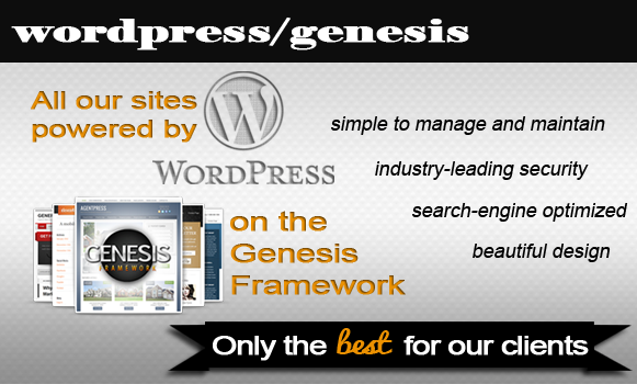 We love Wordpress and Genesis