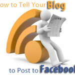 Here's an easy way to get your blog to automatically post to Facebook.